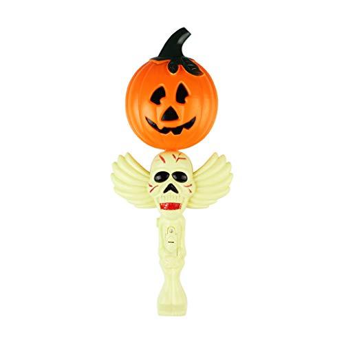 Mengonee Halloween-Party-Dekoration Rütteln Stock-Schläger Kürbis-Hexe-Geist-Schreien glühende Wand Kinderspielzeug -