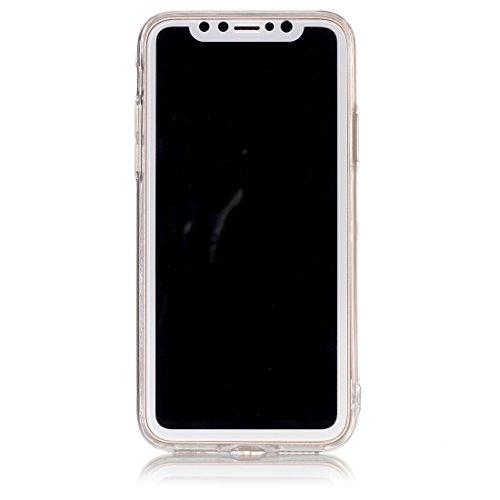 Wkae Schwarzes Marmormuster TPU Shockproof schützender rückseitiger Abdeckungs-Fall für iPhone X ( SKU : Ip8g6368a ) Ip8g6368h