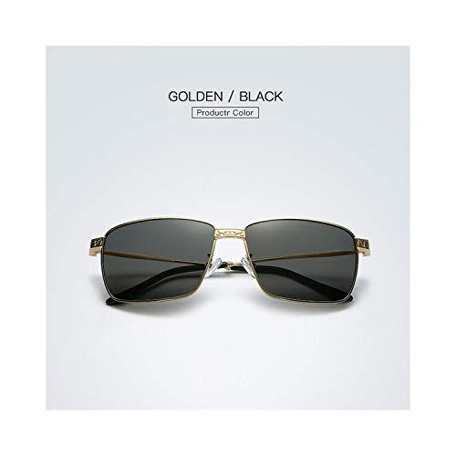 Sport-Sonnenbrillen, Vintage Sonnenbrillen, Hot Fashion Men Polarized Sunglasses Classic Lunettes Metal Frame Fishing Glasses HD Eyewear Driving Oculos De Sol E215 Gold