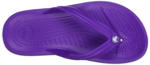 Crocs Crocband Flip U, SaCrocs Crocband Flip U, Sandali, Unisex - adulto Rosa (Neon Purple/White)