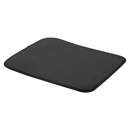 AmazonBasics Tapis d'égouttoir - 40,6 x 47,7 cm - Noir, lot de 3