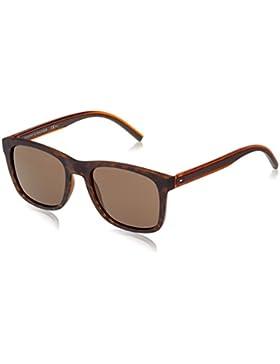 Tommy Hilfiger Unisex-Erwachsene Sonnenbrille TH 1493/S IR, Schwarz (Havana Brown), 53