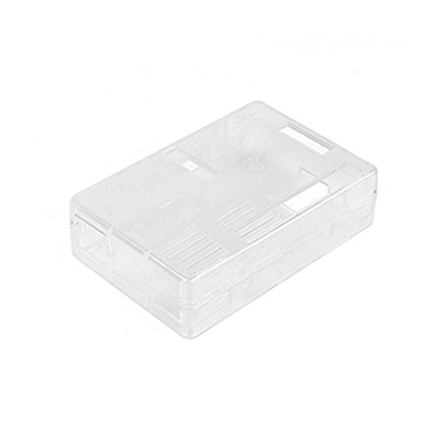 Ake Portable Cover Case Enclosure Box Protective Vented Shell Gehäuse fur Raspberry Pi 2B 2B+ 3B Motherboard -Transparent -