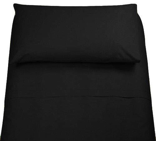 Demona spedizione gratuita set completi di lenzuola 100% cotone singolo tinta unita vari colori sottosopra + federa offerta (nero)