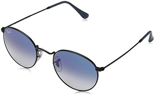 Ray Ban Unisex Sonnenbrille Round Metal Gestell: schwarz, Gläser: verspiegelt blauverlauf 006/3F), Medium (Herstellergröße: 50)
