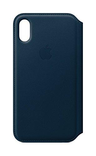 Apple iPhone X Leder Folio, Kosmosblau