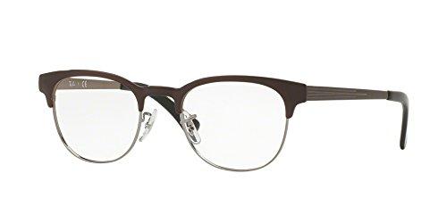 Ray-Ban Unisex-Erwachsene Brillengestell 0rx 6317 2862 49, Grau (Gunmetal On Top Brushed Brown)