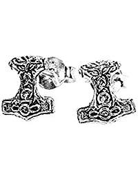 NKlaus PAAR 925 STERLING SILBER Keltische Celtic Gothic Ohrstecker Thors  Hammer 7195 31f502fdfb