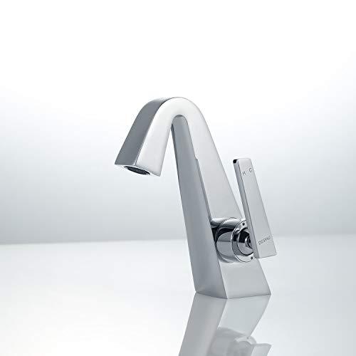 Homelody Elegant Badarmatur Wasserhahn Bad Waschtischarmatur Armatur für Waschbecken