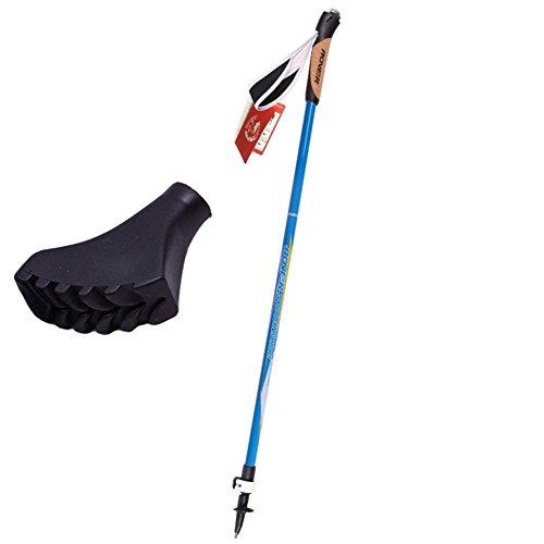Wandern Stick Cork Griff Carbon Fiber Ultra-Light Mountaineer Stick 2 Sektion Verstellbare Outdoor Walking Pole Alpenstock Trekking Pole , 1PC
