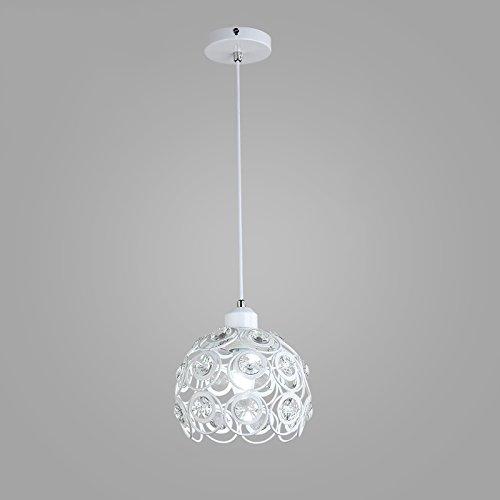 Moderni lampadari di cristallo minimalista, personalità lampada circolare paralume in ferro soggiorno ristorante cafe lampadari, elegante camera da letto bar corridoio lampadari club ( color : white )