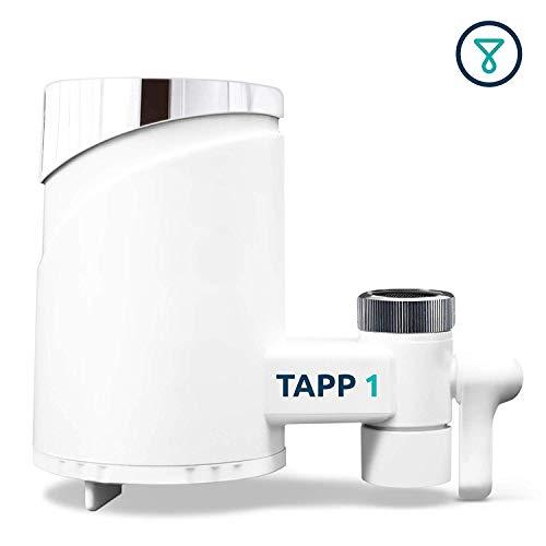 TAPP Water Tapp 1 - Wasserfilter Für Den Wasserhahn (Reduziert Chlorgehalt, Pestizide, Schwermetalle), Weiß, Chrome, 1500 Liter