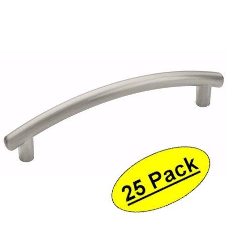Amerock bp52992-g10Allison Value Hardware modernes Arch Bar Schrank Satin Nickel Hardware Griff Pull–3–3/10,2cm (96mm) Loch Zentren, 25Stück (Gebürstet, Zentrum Chrom)