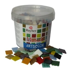Rayher Mosaic Stones Bucket, Multi-Colour, 1 kg, 325-Piece
