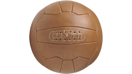 Retro Fußball aus Kunstleder -