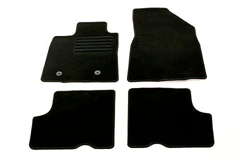 Auto Fußmatten Velours Set 4-teilig passgenau, schwarz