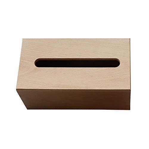 stripei Caja de Pañuelos de Madera Dispensador de Servilletas Adsorción del Imán, No es fácil de Deslizar, Ideal para Oficina Hogar Color Negro Blanco