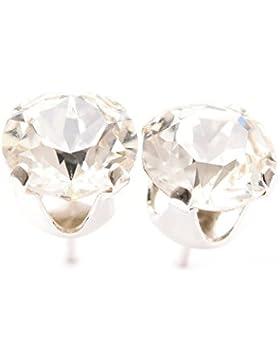 925-Sterling Silber Ohrstecker handgefertigt mit funkelnden Kristall aus SWAROVSKI®.