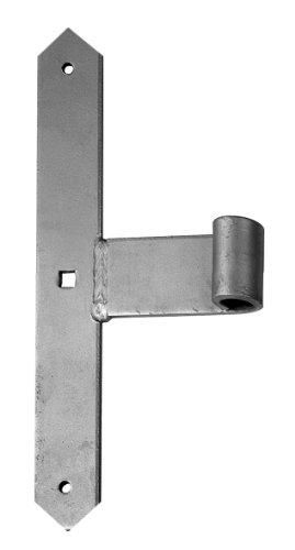 GAH-Alberts 312893 Tor-Mittelband, gerade, Abschluss spitz, feuerverzinkt, Ø16 mm, 300 x 40 mm