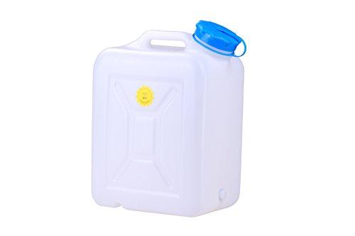 hünersdorff Weithalskanister/Abklärkanister/Mehrzweckkanister mit großer Öffnung zur einfachen Innenreinigung, 31 Liter, UV-Schutz, Made in Germany