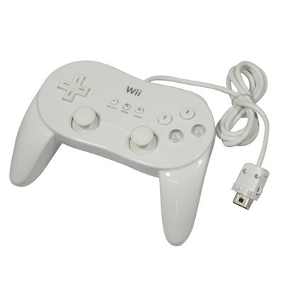 SM-PC® Classic Game Controller Pro Pad für Nintendo Wii klassik Games weiß #006 (Nintendo Wii Classic Controller)