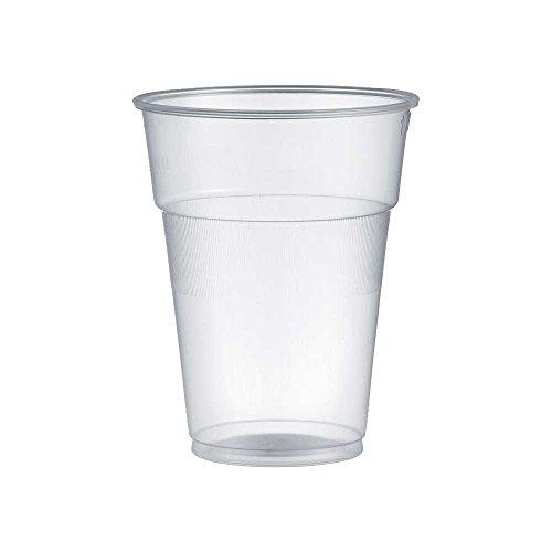 Kristal - Lote de 300vasos de plástico, de 200 ml,para agua, bebidas, cócteles, granizados, batidos, vaso rígido.