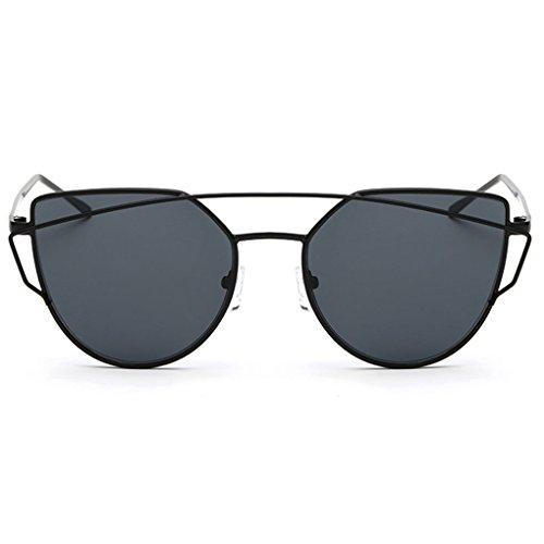 Idyandyans Frauen-Dame-Mode Sonnenbrillen Metallrahmen UV400 Gläser Brillen