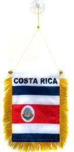 AZ FLAG Fanion Costa Rica 15x10cm - Mini Drapeau costaricain 10 x 15 cm spécial Voiture - Bannière