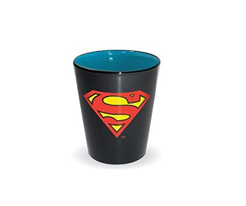 DC Comics Superhero Logo Shot Glass (Superman) by (Superman Shot Glass)
