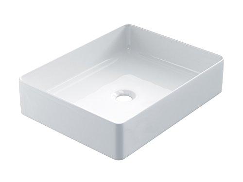 Starbath - Vasque à poser en céramique SFino-RT37. Forme rectangle.