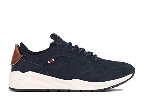 Lee Cooper Herren Sneaker Low-Top aus Leder (41 EU, dunkelblau)