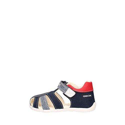 Geox junior b8250d1054 sandali bambino blue navy/bianco 23