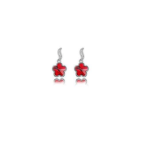 Erica Boucles d'oreilles Sparkling Fleurs de cristal autrichienne strass pour Femmes Filles #4