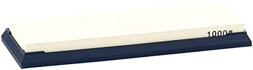 TokioKitchenWare Schleifer: Wasser-Schleifstein für Messer, mit rutschfestem Halter, Körnung 1000 (Japanische Wasserschleifsteine)