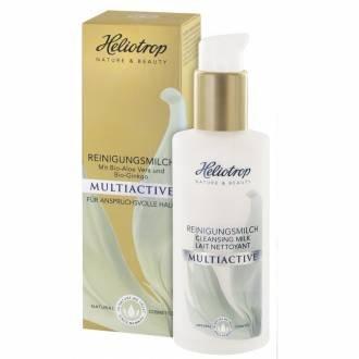 HELIOTROP Naturkosmetik MULTIACTIVE Reinigungsmilch, Bbefreit gründlich von Make-up &...