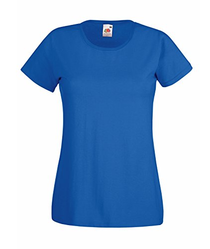 Lady-Fit Valueweight T-Shirt Fruit of the Loom Farben 2016 Royalblau Medium