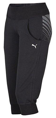 Puma Damen Sweathose Graphic 3/4 Sweat Pant (S, schwarz) - 3/4 Sweat