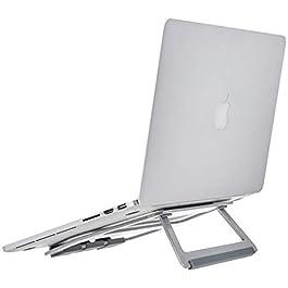 """AmazonBasics – Supporto richiudibile in alluminio per PC portatili con display fino a 15"""", Argento"""