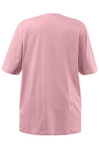 Ulla Popken Große Größen Damen T-Shirt, V-Ausschnitt pfingstrose