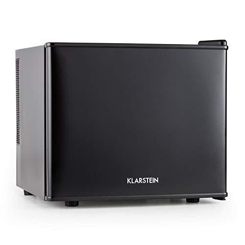 Klarstein Geheimversteck - Minibar, Mini réfrigérateur, A+, Capacité de 17L, 4,5 à 15°C, Seulement 38 dB, Étagère amovible, Lumière à l'intérieur, 50W, Noir
