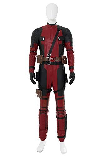 Xiemushop Herren Superhero Superheld Film Held Overall Cosplay-Deluxe Outfit Kostüm Film Zubehör für Karneval, Fasching und - Marvel Helden Kostüm Für Erwachsene