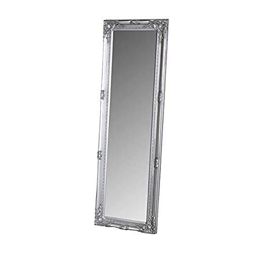 Espejos de Suelo Mir Espejo rústico con Marco, Hecho a Mano, Madera sostenible, Espejos Grandes Soporte de pie para Piso Espejo de Cuerpo Entero en Toda la habitación Espejo L0416