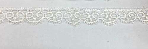 LA 157 Venise White Lace Nähen Trim Brautschmuck Hochzeit 5 Meter White Lace Fringe