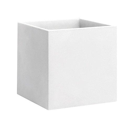 Nicoli R4150B Evolution Matt stampaggio rotazionale Momus Vaso, Bianco, 50cm
