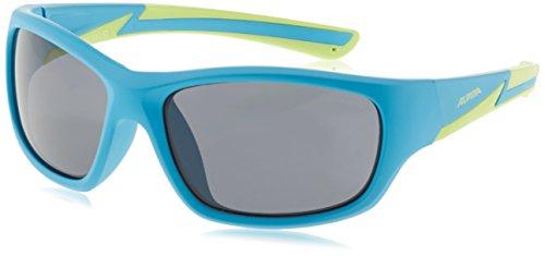 Alpina Kinder Sonnenbrille Flexxy Youth Outdoorsport-Brille, Blue Matt-Lime, One Size