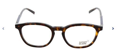 Montblanc Herren Mont Blanc Mb0639 Brillengestelle, Mehrfarbig, 50