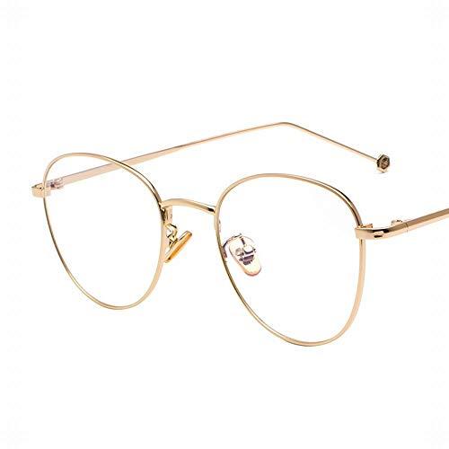 WULE-RYP Polarisierte Sonnenbrille mit UV-Schutz Ultralight Retro Thin Metal Brillengestell Optische Brillen Brillen ohne Rezept. Superleichtes Rahmen-Fischen, das Golf fährt (Farbe : Gold)