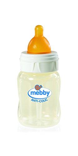 Mebby Biberon Step 1+2 Anti-Colique avec Tétine en Caoutchouc, 180 ml
