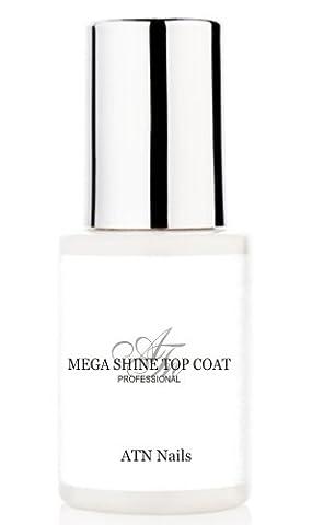 ATNails HIGH GLOSS - quick dry MEGA SHINE TOP COAT