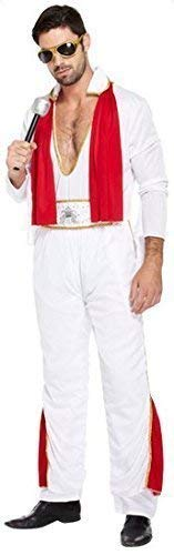 Fancy Me mens 1950S Elvis Presley Music Celebrity famosa persone 50s costume travestimento standard & XL